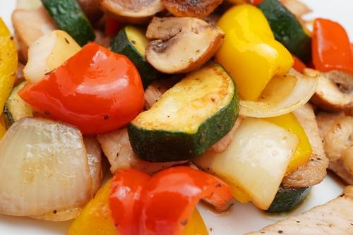 Ceafa sau pui sotate cu legume  ルーマニア式肉野菜炒め